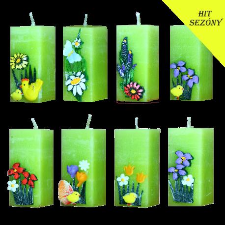 SET 8 ks. Veľkonočné sviečky Spring Decoration