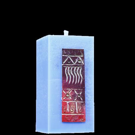 Dekoratívna sviečka Kváder zo setu Pink House