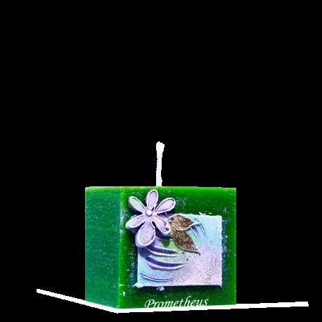 Dekoratívna sviečka Kocka zo setu Green Interior