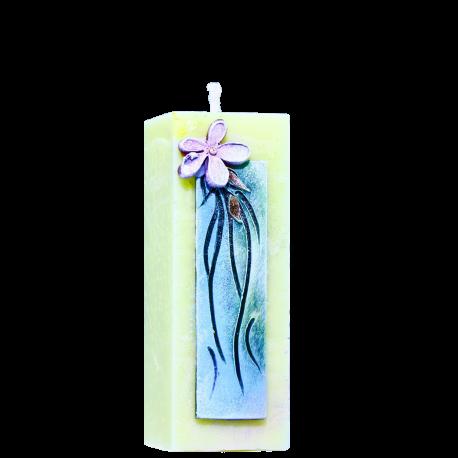 Dekoratívna sviečka Kváder zo setu Olive Candles