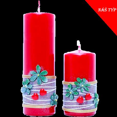 Sviečka Valec 50/150 zo setu VALENTÍN in RED