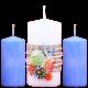 dekoratívny set 3 ks sviečok na Veľkonočný stôl