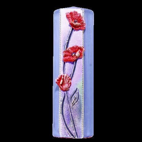 Sviečka Valec 50/150 s kvetmi