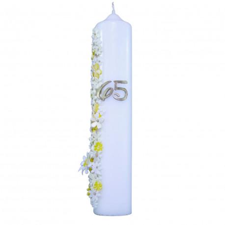Jubilejná sviečka darček ku 65. narodeninám