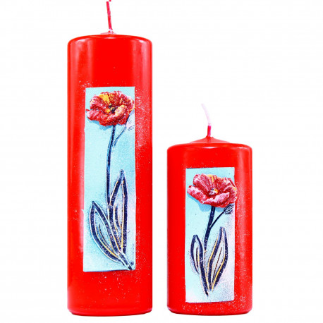Set 2 ks. dekoratívne sviečky