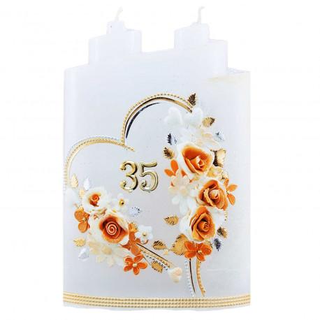 Narodeninová sviečka Veža, s venovaním.