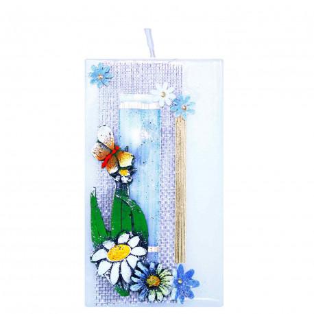 Sviečka Trojhran zo setu Fresh Flowers
