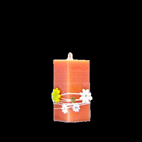 Veľkonočná sviečka Kvádrik zo setu Orange Candles