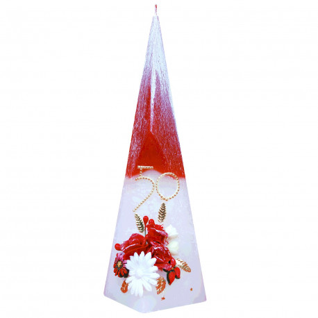 Sviečka pyramída M k jubileu, Vek voliteľný
