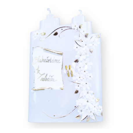 Luxusný set svadobných sviečok 9 ks.