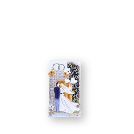 Sviečka svadobná Kváder 375g