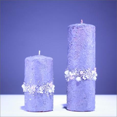 Sviečky z parafínu - fialová