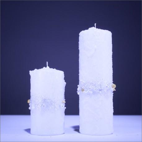 Sviečky z parafínu - biela