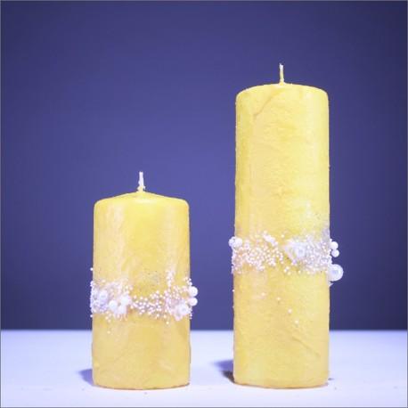 Sviečky z parafínu - zlta