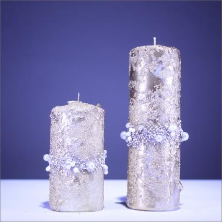 Sviečky z parafínu - žltá