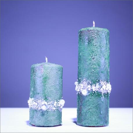 Sviečky z parafínu -zelená