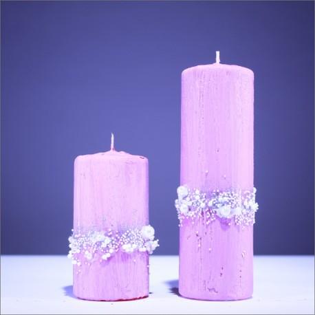 Sviečky z parafínu - bledo modrá