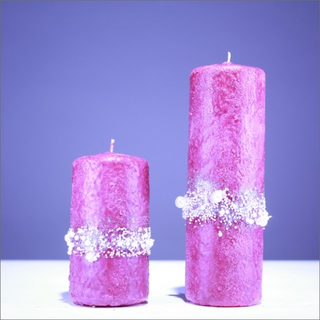 Sviečky z parafínu - rúžová