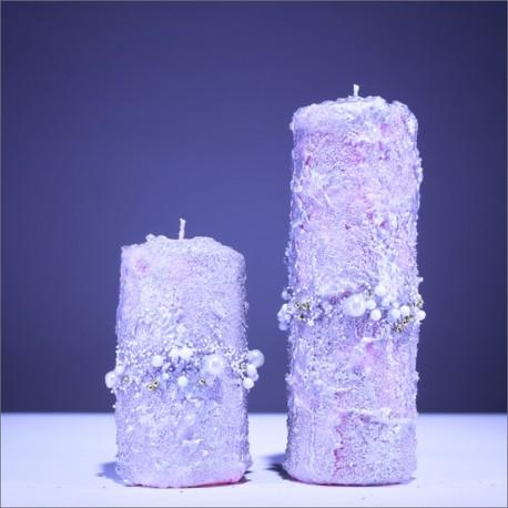 Sviečky z parafínu - bordová