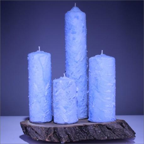 Sviečky z parafínu - modré