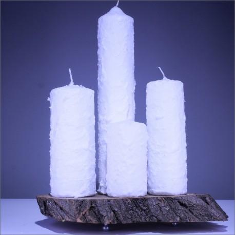 Sviečky z parafínu 4 ks - modré