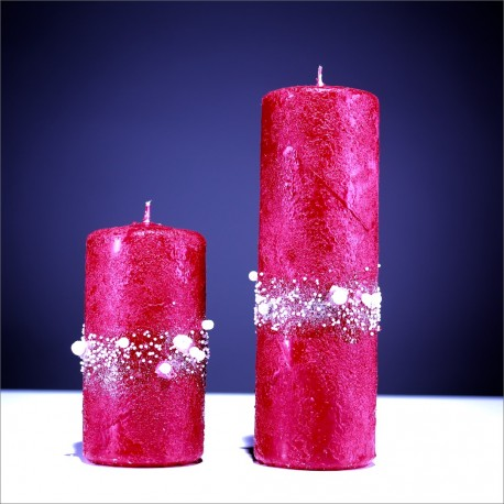 Sviečky z parafínu - červená