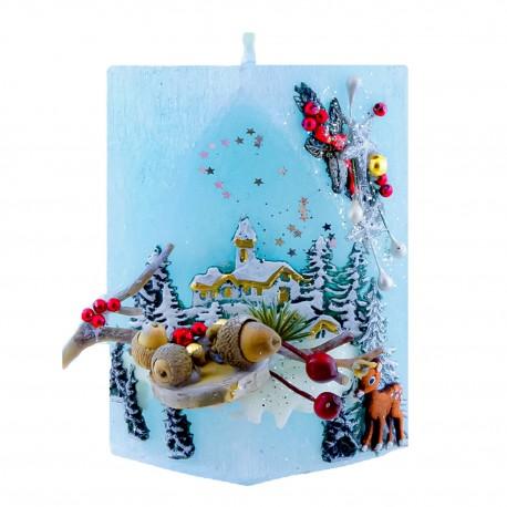 Vianočná sviečky Kváder 375g