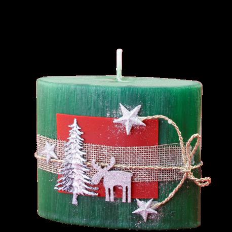 Vianočná sviečka Elipsa zo setu Green Provensall