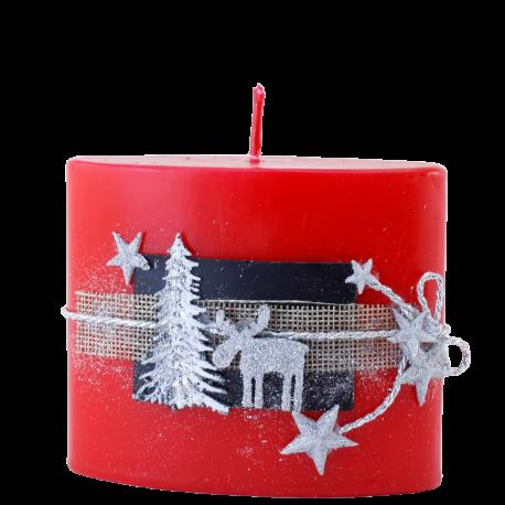 Vianočná sviečka Elipsa zo setu Red Provensall