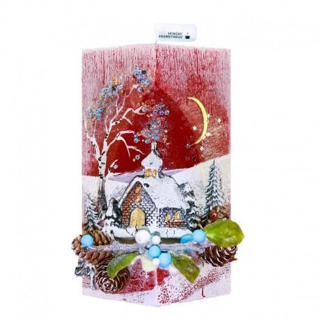 Vianočná sviečka Kváder 530g