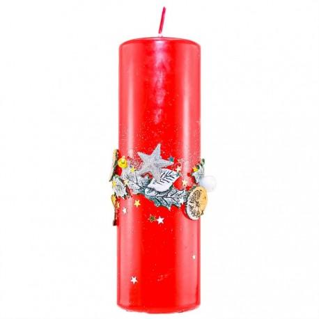 Vianočná sviečka Valec 250g - pomaranč