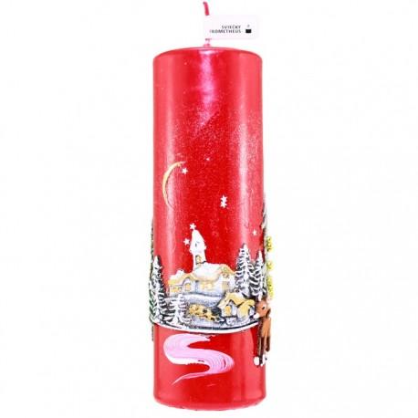 Vianočná sviečka Valec 250g - Dedinka v údolí