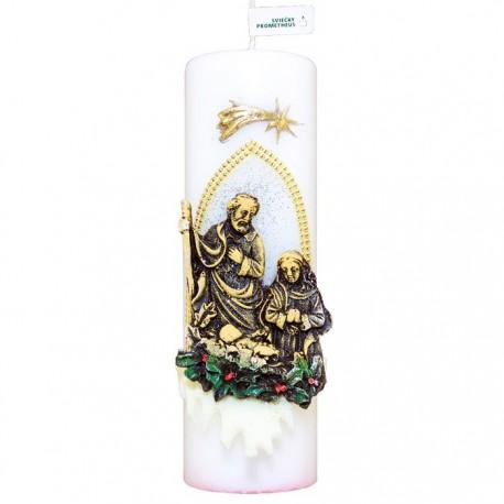 Vianočná sviečka Valec 250g - Svätá rodina