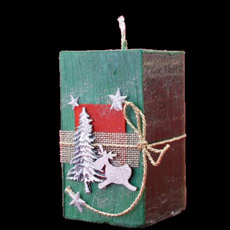 Vianočná sviečka Kváder zo setu Green Provensall