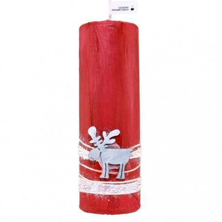 Vianočná sviečka Valec 250g - Sobík