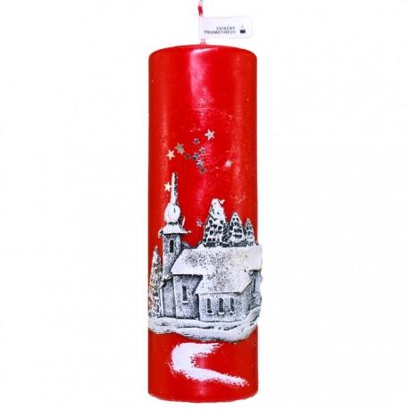 Vianočná sviečka Valec 250g - Kostolík