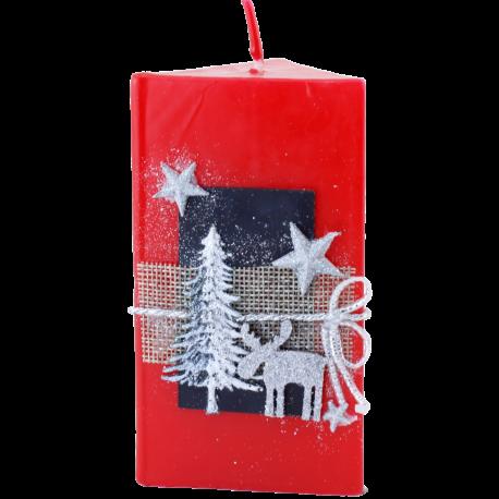 Vianočná sviečka Kváder zo setu Red Provensall