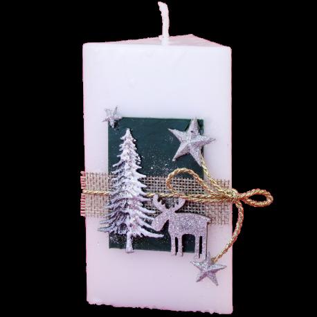 Vianočná sviečka Trojhran zo setu Red Provensall