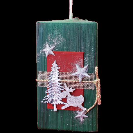 Vianočná sviečka Trojhran zo setu White Provensall