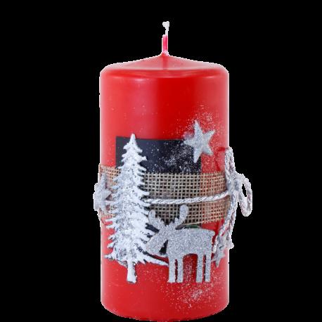 Vianočná sviečka Valec 100/50 zo setu Red Provensall