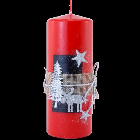 Vianočná sviečka Valec 50/150zo setu Red Provensall